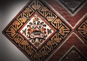 Fresques murales Huacas de Moché qui compte en son sein le palais de Huaca del Sol et le temple de Huaca de la Luna.