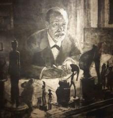 Freud achète la majorité de ses pièces auprès d'antiquaires viennois et lors de ses voyages en Grèce, en Italie…