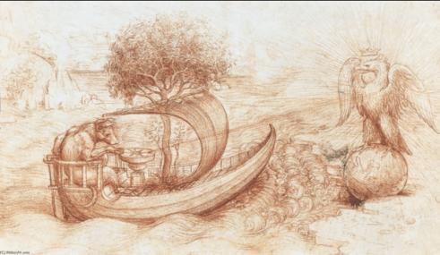 L'allégorie du loup et de l'aigle, 1516, bibliothèque royale de Windsor