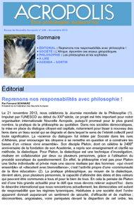Première de couverture de la Revue Acropolis n°246