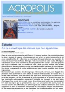 Première de couverture de la Revue Acropolis n°227