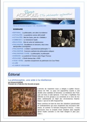 Revue Acropolis n°323