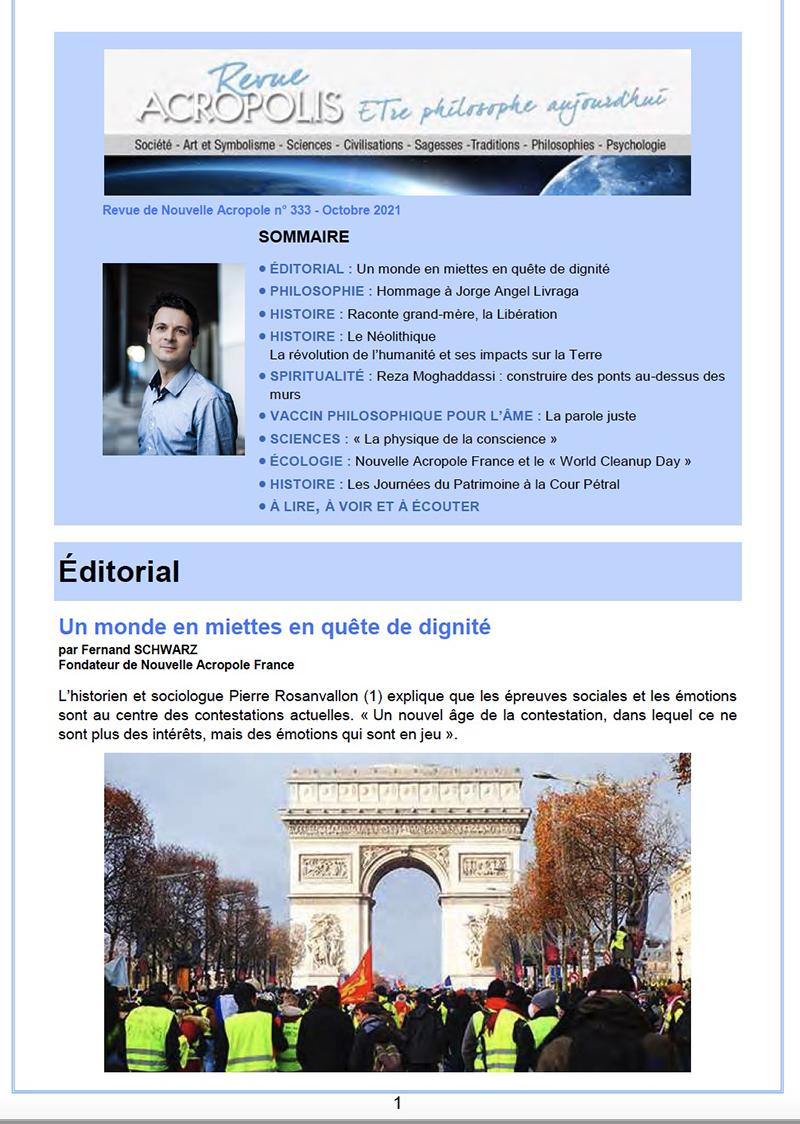 Revue Acropolis n°333