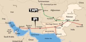 En lieu et place du Peace Pipeline, les États-Unis proposent un autre pipeline, le TAPI (Turkménistan-Afghanistan-Pakistan-Inde), qui n'est ni plus ni moins qu'une reprise du projet Unocal.
