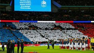La Marseillaise chantée avant le début d'un match de l'équipe de France