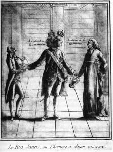 Caricature de Louis XVI en « Roi Janus »