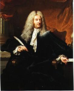 Portrait du ministre Michel-Robert le Pelletier des d'après Hyacinthe Rigaud (1727) Versailles, musée National du Château