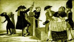 Le pressoir. 2 novembre 1789, gravure populaire sur la confiscation des biens du clergé