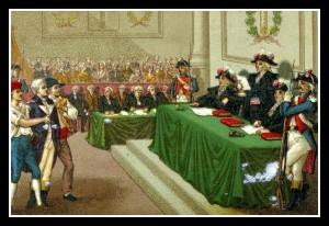 Illustration du Tribunal révolutionnaire en action