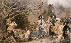 Le Massacre de Machecoul, peinture de François Flameng, 1884