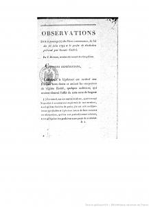 Observations sur la loi du 10 juin 1793