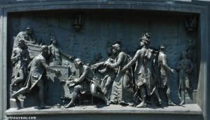 Abolition des privilèges, haut-relief en bronze, monument Place de la République à Paris