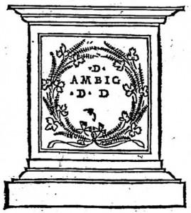 Extrait de F. Colonna, Hypnerotomachia Poliphili, Venise, Alde Manuce, 1499