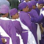 Youths get ready for Holy Thursday procession in Izalco, 2009 by Lena Johannessen