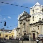 Guatemala City Church of La Merced with adjacent museum.