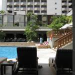 Sun-starved northerners enjoy hotel pool in Guatemala City