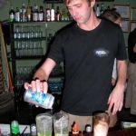 Mixing margaritas on his last night at Monoloco
