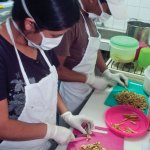 Creating new products at the Ixcacao Chocolate factory (photo by Thor Janson)