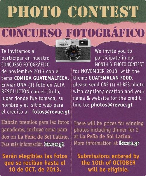 REVUE's November 2013 Photo Contest: Guatemalan Food