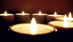 Scented candles for spa