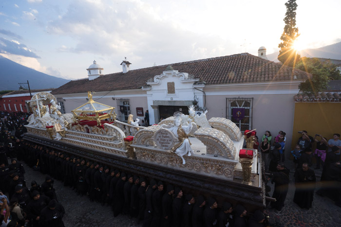 Andas processional floats in Antigua