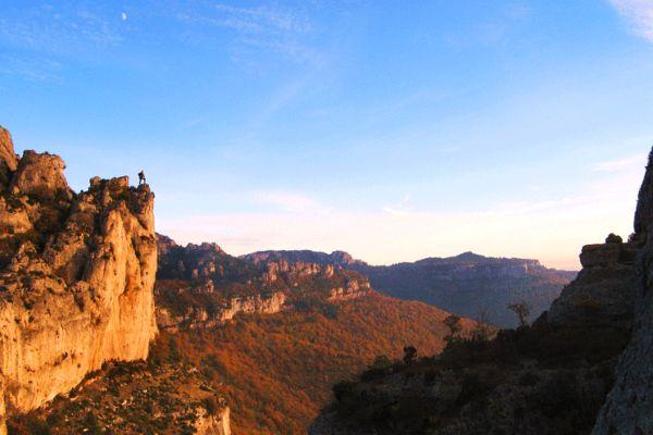 Les grands chemins  des crêtes de l'Hérault