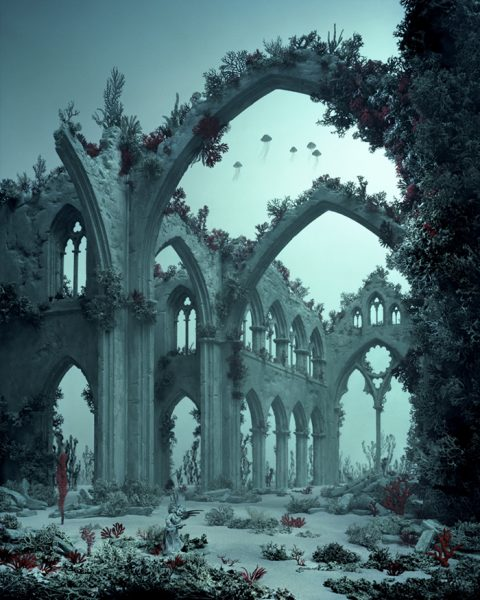 La Cathédrale Engloutie (Underwater Cathedral), 2012 © Didier Massard