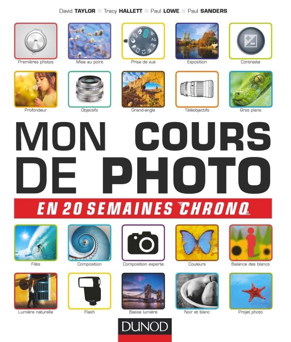 """Couverture livre """"Mon cours de photo en 20 semaines chrono"""""""