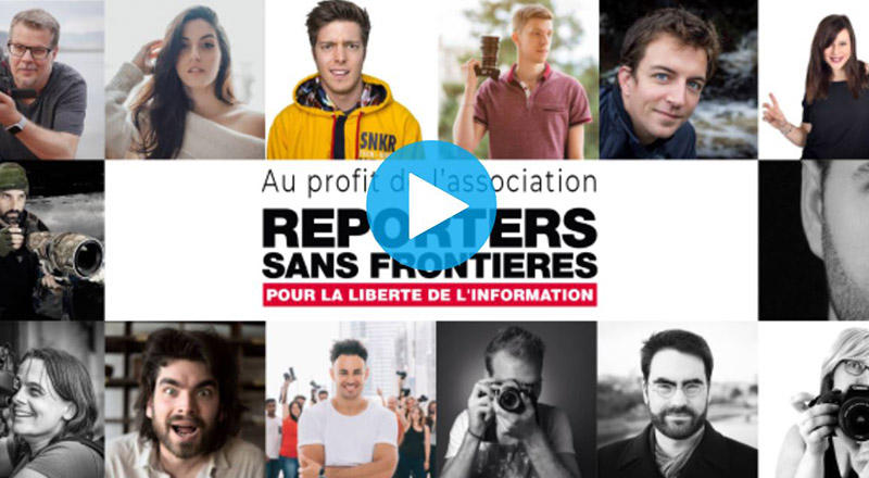 Calendrier photo au profit de RSF 2019