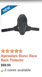Alpinestars Bionic Race Back Protector