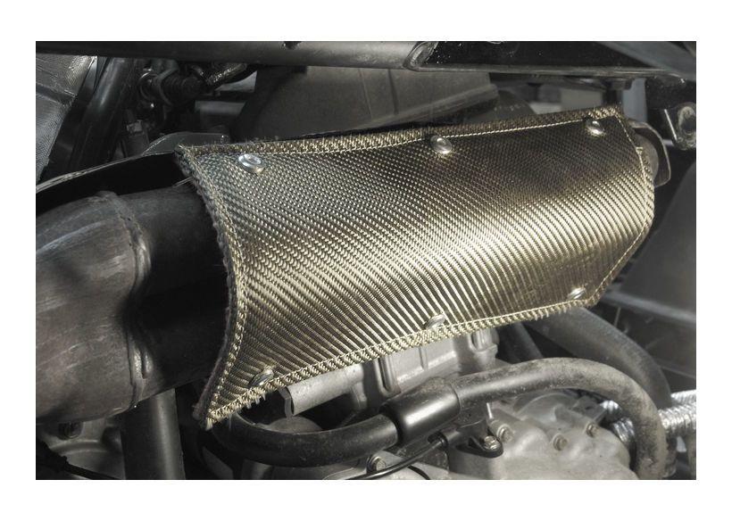 design engineering inc flexible exhaust pipe heat shield