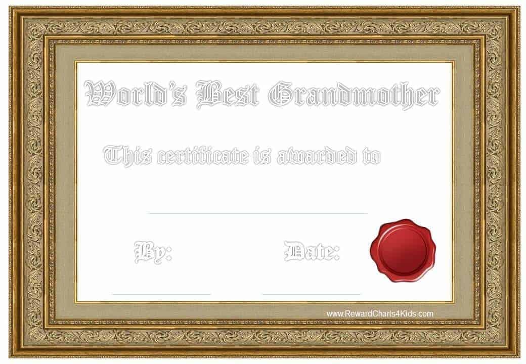 Best Grandmother Certificate