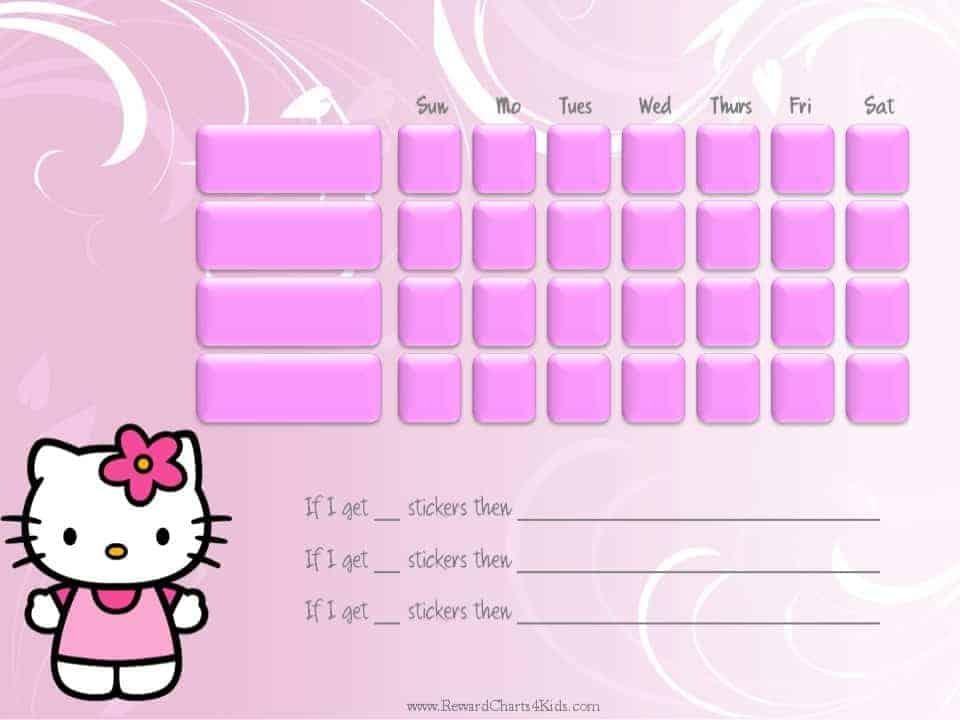 Hello Kitty Sticker Chart