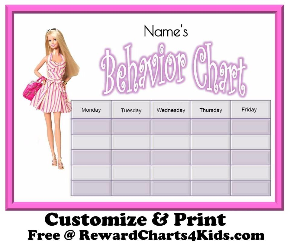 Behavior Printable Charts