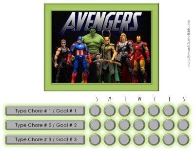 Marvel Avengers Charts Customizable Amp Printable Free
