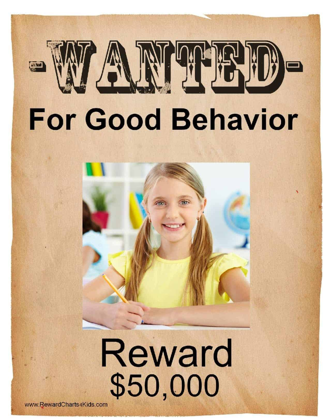 free printable wanted poster template