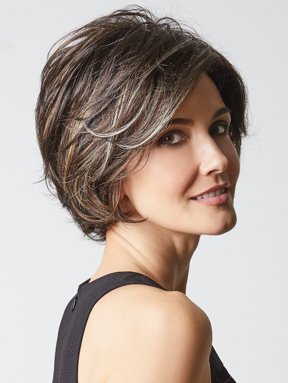 Classic Layered Bob Wigs With Long Side Fringe