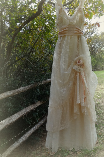 upcycled wedding gowns and cowgirl chic