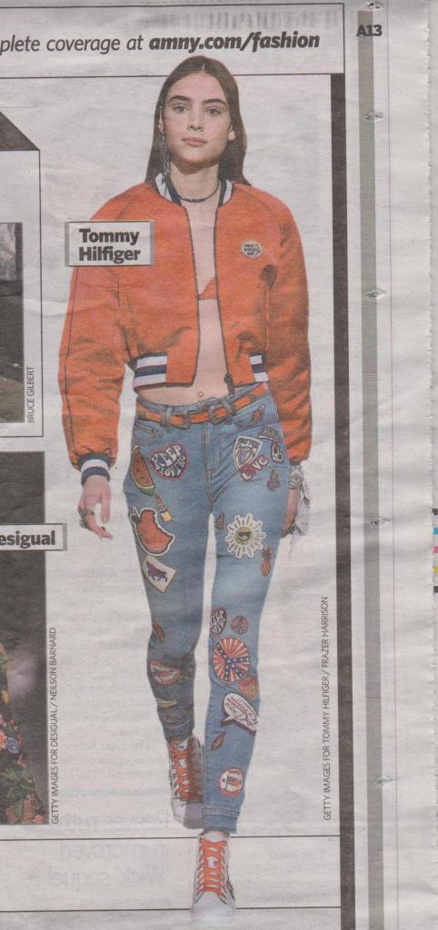 Appliques on jeans