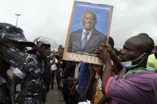 les partisans de Gbagbo en liesse