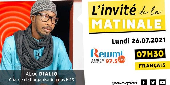 Invité de la Matinale Abdou Diallo cos M23