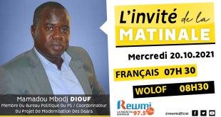Invite De La Matinale Mamadou Mbodj Diouf
