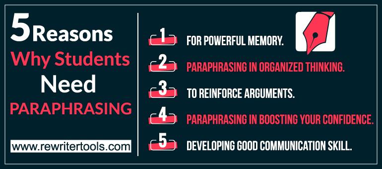 5 Reasons Why Students Need Paraphrasing