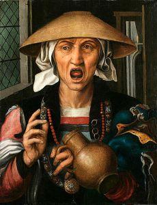 "Pieter Huys, ""Woman Enranged"", Circa 1517"