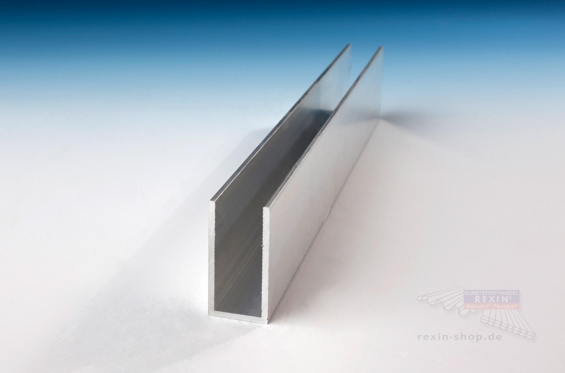 Aluminium U Profil 40mm X 20mm X 40mm X 2mm Pressblank