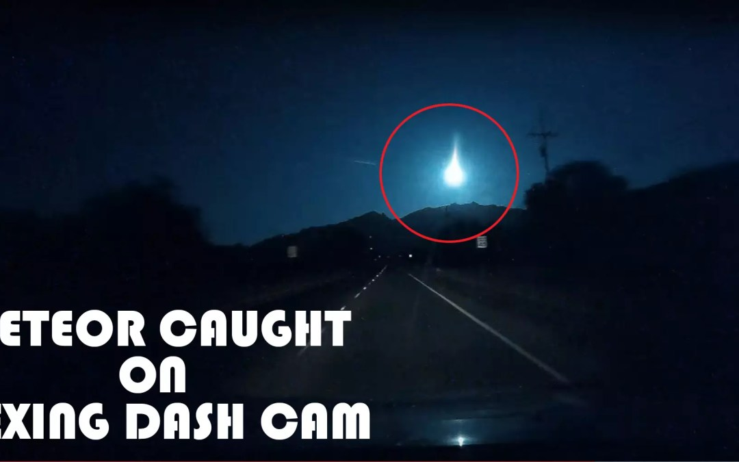 Meteor Caught On Rexing Dash Cam