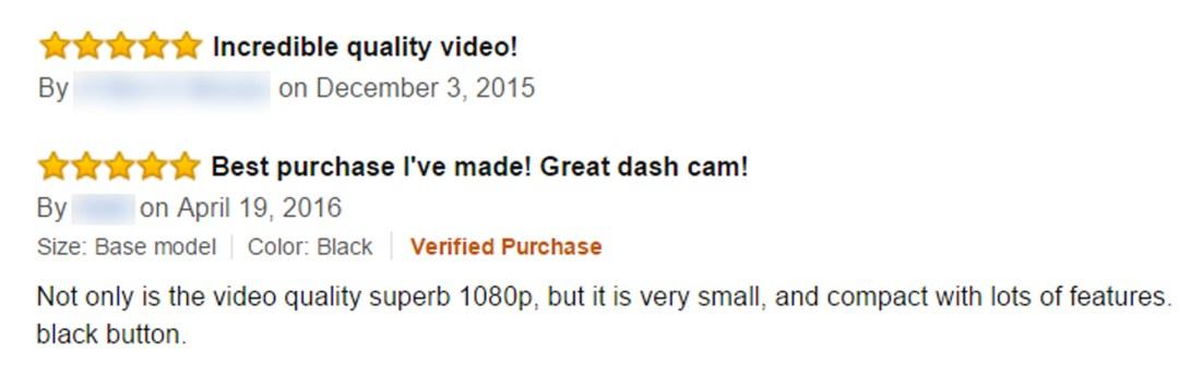 Dash Cam Quality Footage