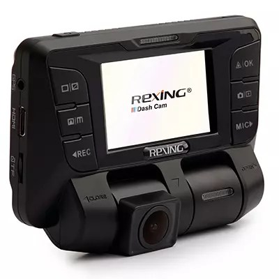 Front, rear and internal facing dash cam by Rexing USA