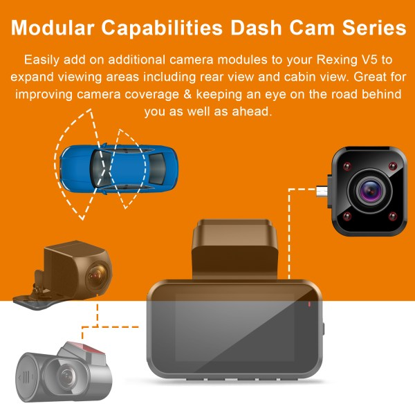 V5 Modular Capabilities Dash Cam Series cabin cam