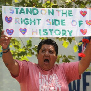 """""""I Stand on the Right Side of History"""" -- SF PRide 2010 -- Photo: Reyes-Chow"""